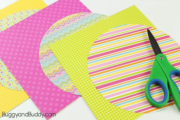 paper shapes for butterfly craft for kids