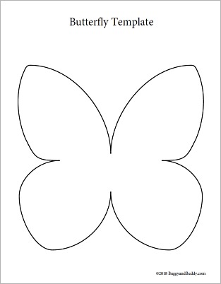 free printable butterfly template