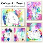 Collage Art Project for Kids Using Bleeding Tissue Paper