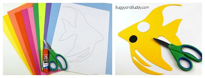 cut out your angelfish template
