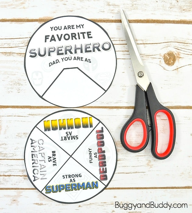cut out the free father's day superhero card templates