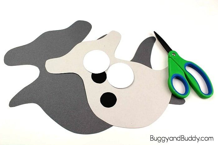 cut out your shark paper pieces using the free shark template
