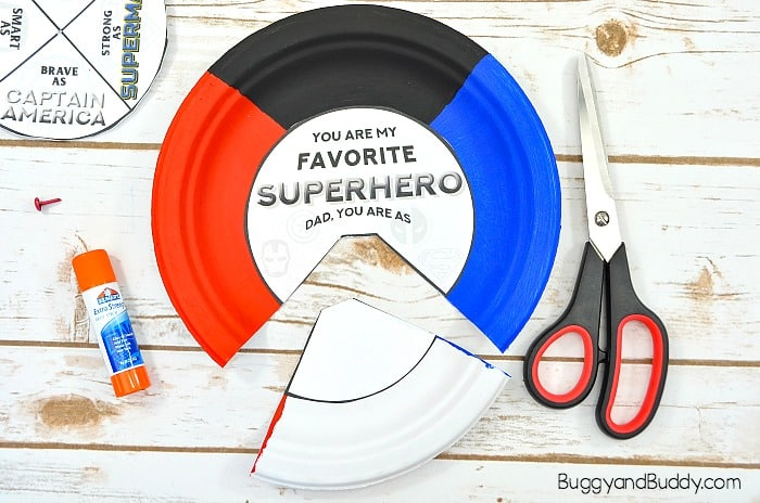 glue the other template onto your painted plate. cut out the bottom section