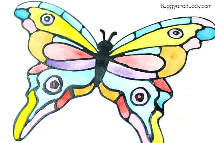 let the watercolors dry in your butterfly craft