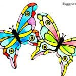 Colorful Painted Paper Butterfly Craft for Kids