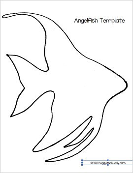 free angelfish template