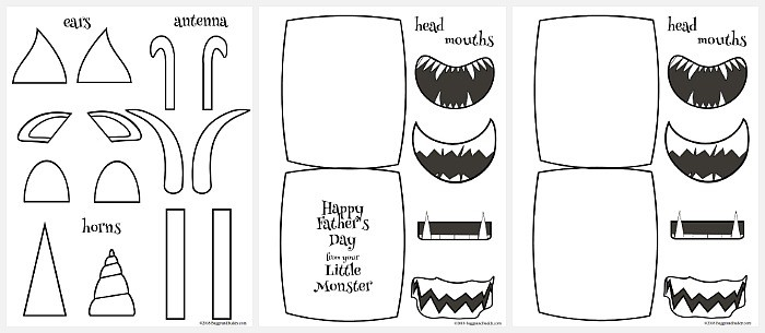free printable monster templates