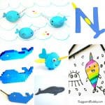 10 Adorable Narwhal Crafts for Kids