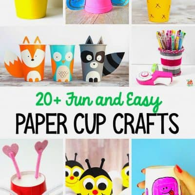 20+ Cup Crafts for Kids