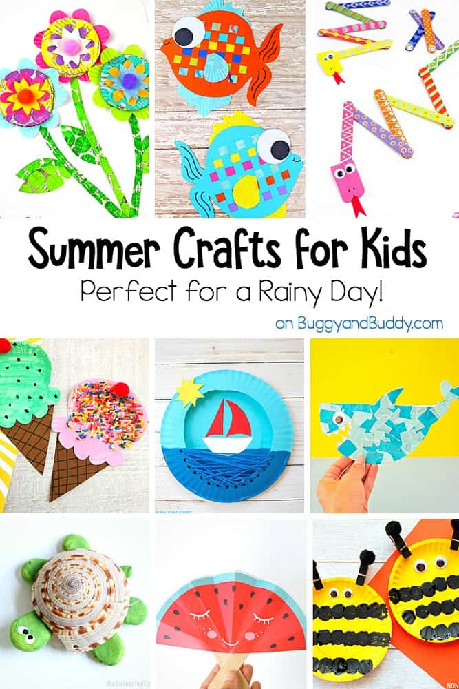 20+ Summer Themed Crafts for Kids- Perfect boredom busters or for a rainy day!