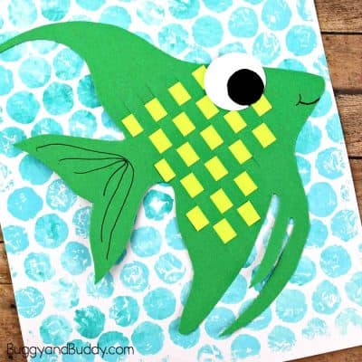 Woven Paper Angelfish Craft for Kids
