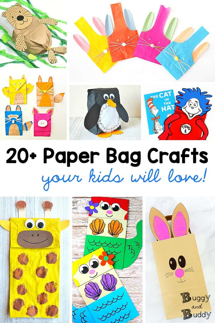 Ordinary Brown Paper Bag Crafts For Kids Part - 9: 20+ Paper Bag Crafts For Kids