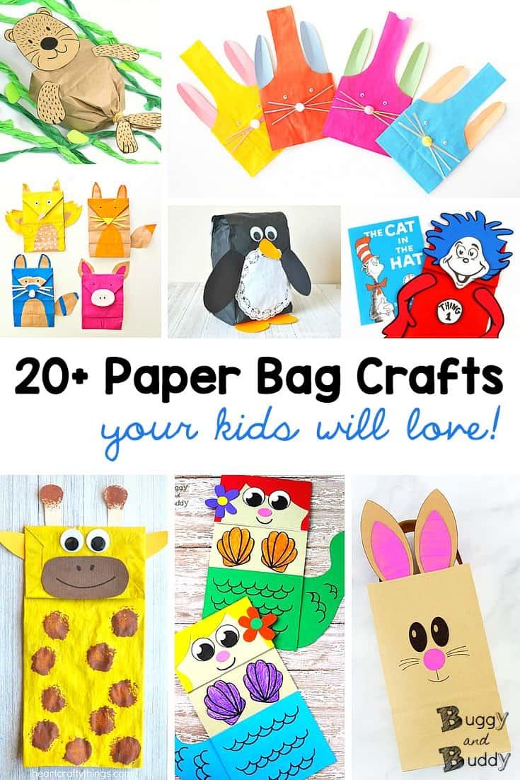 20+ Paper Bag Crafts for Kids