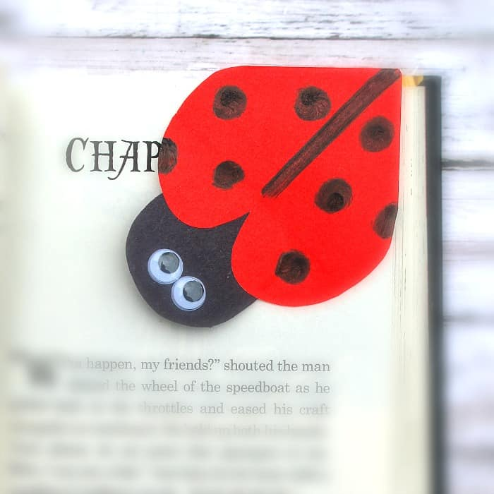 diy ladybug corner bookmark craft for kids