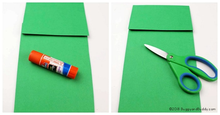 glue construction paper onto your paper bag to make your puppet