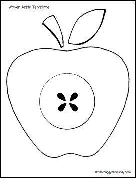 photo relating to Apple Stencil Printable named Weaving Paper Apple Craft for Young children - Buggy and Good friend