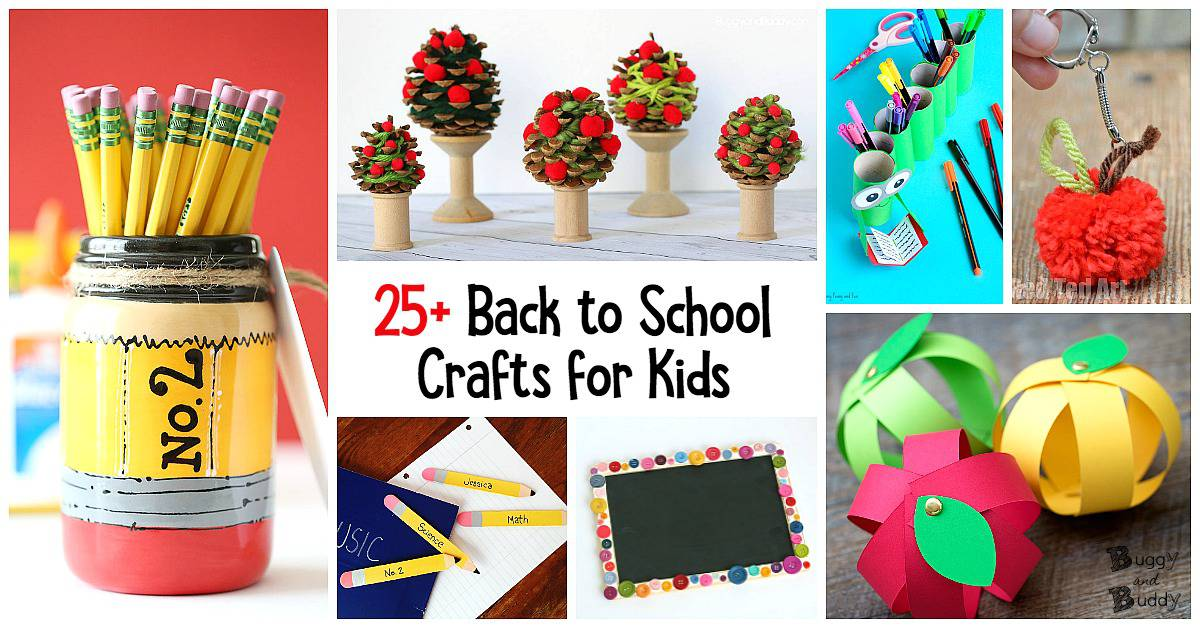25 Back To School Crafts For Kids Buggy And Buddy