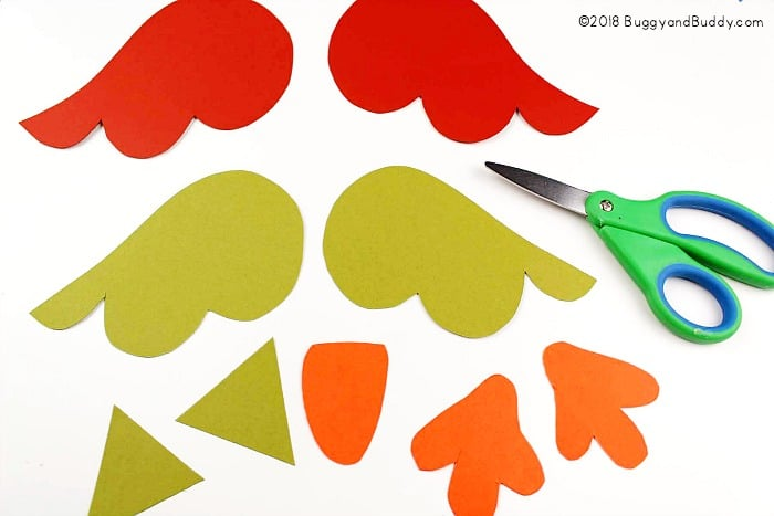 cut out the owl pieces for your puppet