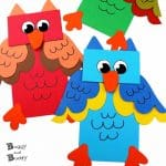 Owl Paper Bag Puppet Craft for Kids