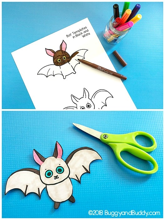 color and cut out your bat craft