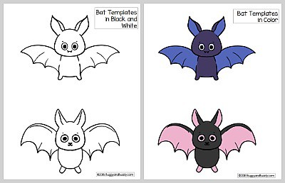 free printable bat template pdf - bat coloring page