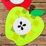 Weaving Paper Apple Craft for Kids