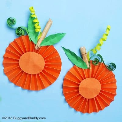 Folded Paper Pumpkin Craft