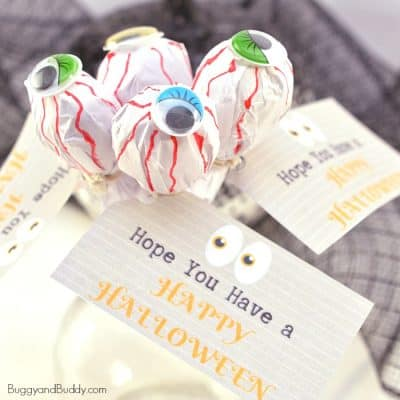 DIY Eyeball  Lollipop Treat for Halloween