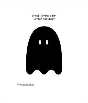 free printable ghost template pdf