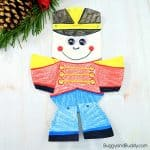 Moveable Paper Plate Nutcracker Craft for Kids