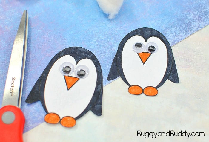 cut out and color and add googly eyes to your penguins