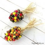 Pinecone Indian Corn Craft for Thanksgiving