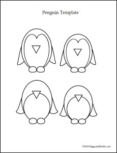 free printable penguin template