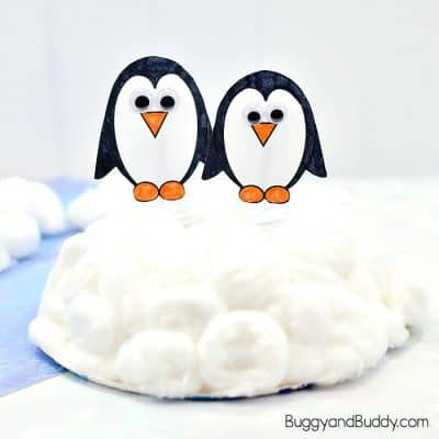 Waddling Penguin Winter Craft for Kids