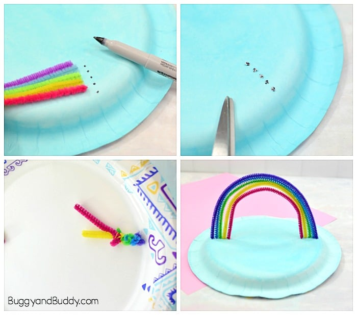 make your pipe cleaner rainbow