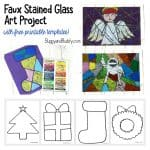 Christmas Stained Glass Art Project for Kids