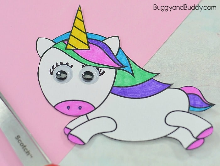 color your free printable unicorn