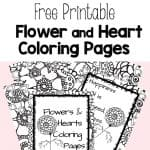 Free Printable Flower and Heart Coloring Pages