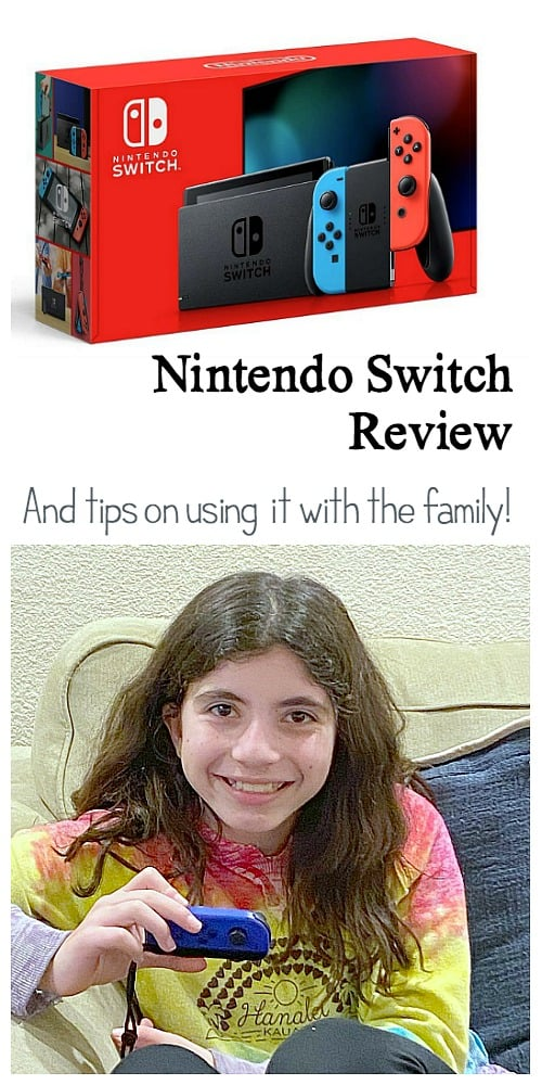 Nintendo Switch Gaming System Review and tips on using with your family as well as our favorite games