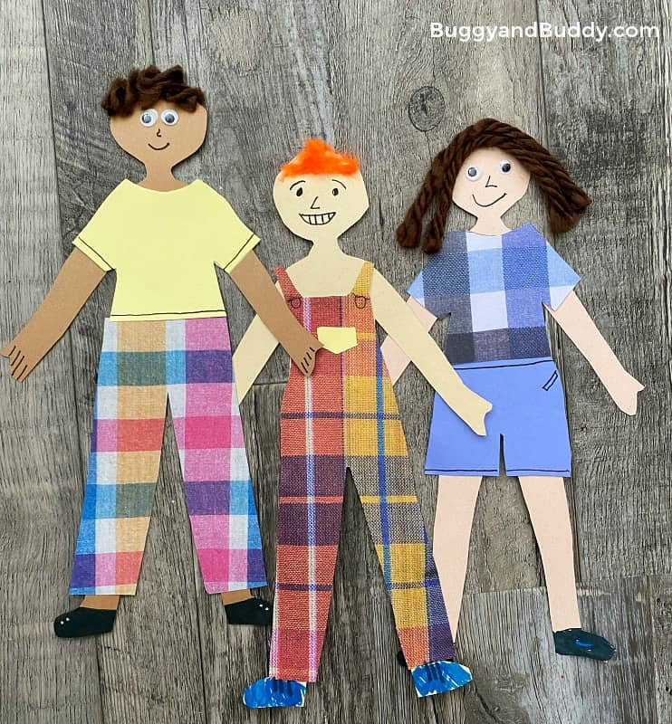 self portrait paper doll craft for kids