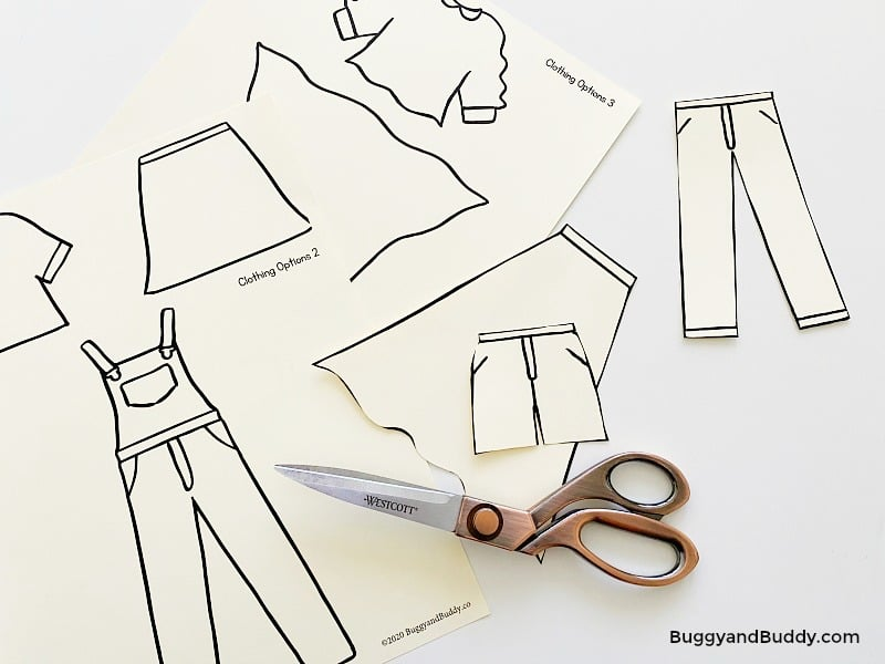 cut out free clothing templates to use as tracers